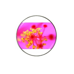 Bright Pink Hibiscus 2 Hat Clip Ball Marker