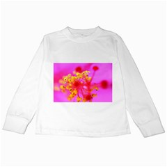 Bright Pink Hibiscus 2 Kids Long Sleeve T-Shirts