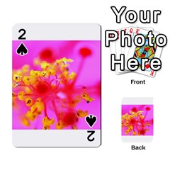 Bright Pink Hibiscus 2 Playing Cards 54 Designs