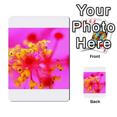 Bright Pink Hibiscus 2 Multi Purpose Cards (rectangle)