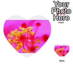 Bright Pink Hibiscus 2 Multi Purpose Cards (heart)