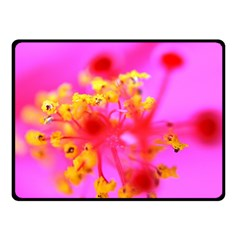 Bright Pink Hibiscus 2 Fleece Blanket (Small)