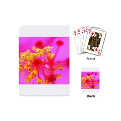 Bright Pink Hibiscus 2 Playing Cards (mini)