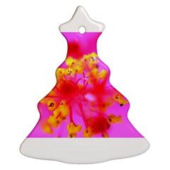Bright Pink Hibiscus 2 Christmas Tree Ornament (2 Sides)