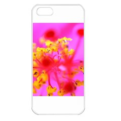Bright Pink Hibiscus 2 Apple Iphone 5 Seamless Case (white)