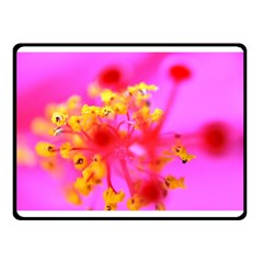 Bright Pink Hibiscus 2 Double Sided Fleece Blanket (Small)