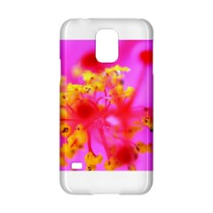 Bright Pink Hibiscus 2 Samsung Galaxy S5 Hardshell Case