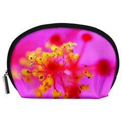 Bright Pink Hibiscus 2 Accessory Pouches (large)