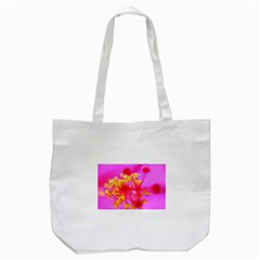 Bright Pink Hibiscus 2 Tote Bag (White)