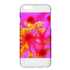 Bright Pink Hibiscus 2 Apple Iphone 6 Plus Hardshell Case