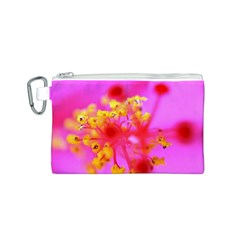 Bright Pink Hibiscus 2 Canvas Cosmetic Bag (s)