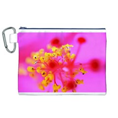 Bright Pink Hibiscus 2 Canvas Cosmetic Bag (XL)