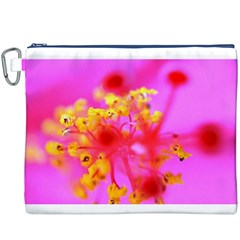 Bright Pink Hibiscus 2 Canvas Cosmetic Bag (XXXL)