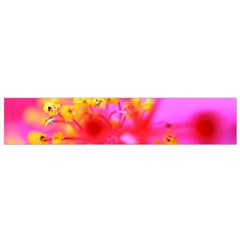 Bright Pink Hibiscus 2 Flano Scarf (Small)