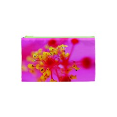Bright Pink Hibiscus 2 Cosmetic Bag (xs)