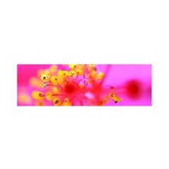 Bright Pink Hibiscus 2 Satin Scarf (oblong)