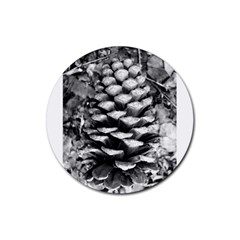 Pinecone Spiral Rubber Round Coaster (4 Pack)