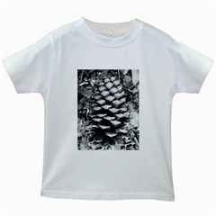 Pinecone Spiral Kids White T-Shirts