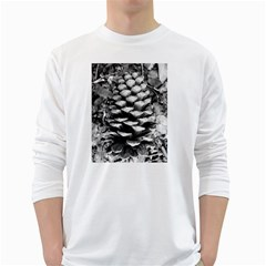 Pinecone Spiral White Long Sleeve T-Shirts