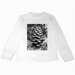 Pinecone Spiral Kids Long Sleeve T-Shirts