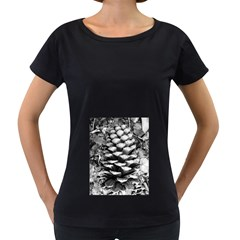 Pinecone Spiral Women s Loose-Fit T-Shirt (Black)