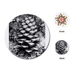 Pinecone Spiral Playing Cards (round)