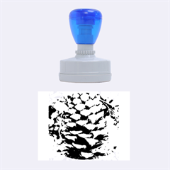Pinecone Spiral Rubber Oval Stamps