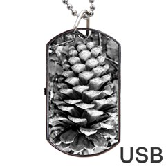 Pinecone Spiral Dog Tag USB Flash (One Side)