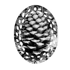 Pinecone Spiral Oval Filigree Ornament (2-Side)
