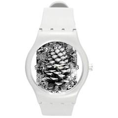 Pinecone Spiral Round Plastic Sport Watch (m)