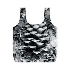 Pinecone Spiral Full Print Recycle Bags (m)
