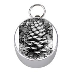 Pinecone Spiral Mini Silver Compasses