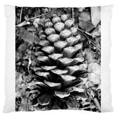 Pinecone Spiral Large Flano Cushion Cases (One Side)