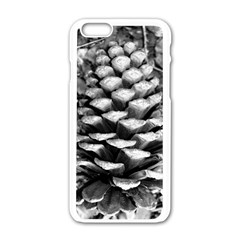 Pinecone Spiral Apple iPhone 6 White Enamel Case