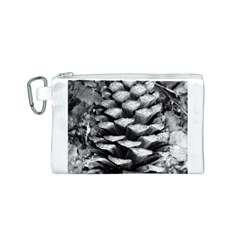 Pinecone Spiral Canvas Cosmetic Bag (S)