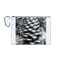 Pinecone Spiral Canvas Cosmetic Bag (M)