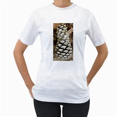 Pincone Spiral #2 Women s T-Shirt (White) (Two Sided)