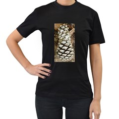 Pincone Spiral #2 Women s T-Shirt (Black) (Two Sided)