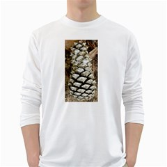 Pincone Spiral #2 White Long Sleeve T Shirts