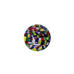 Tibetan Buddhist Prayer Flags 1  Mini Buttons
