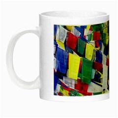 Tibetan Buddhist Prayer Flags Night Luminous Mugs