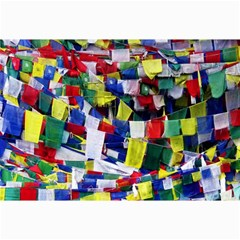Tibetan Buddhist Prayer Flags Collage 12  x 18