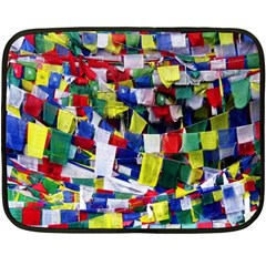 Tibetan Buddhist Prayer Flags Fleece Blanket (mini)