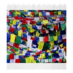 Tibetan Buddhist Prayer Flags Shower Curtain 66  X 72  (large)