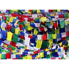 Tibetan Buddhist Prayer Flags Birthday Cake 3D Greeting Card (7x5)
