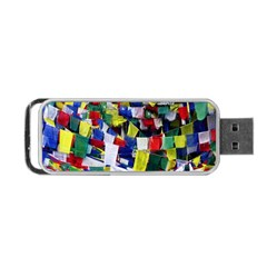 Tibetan Buddhist Prayer Flags Portable USB Flash (One Side)