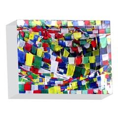 Tibetan Buddhist Prayer Flags 5 x 7  Acrylic Photo Blocks