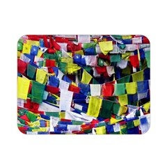 Tibetan Buddhist Prayer Flags Double Sided Flano Blanket (Mini)