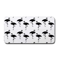 Flamingo Pattern Black On White Medium Bar Mats