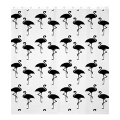Flamingo Pattern Black On White Shower Curtain 66  x 72  (Large)